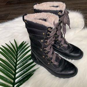 Timberland mount hope mid waterproof fur boot